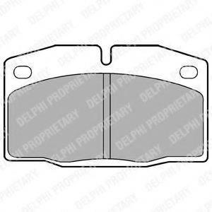 Комплект тормозных колодок, дисковый тормоз DELPHI LP415