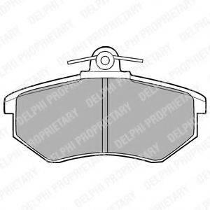 Комплект тормозных колодок, дисковый тормоз DELPHI LP424
