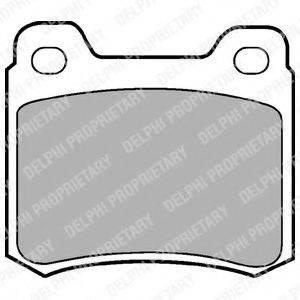 Комплект тормозных колодок, дисковый тормоз DELPHI LP440