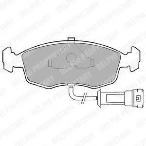 Комплект тормозных колодок, дисковый тормоз DELPHI LP457