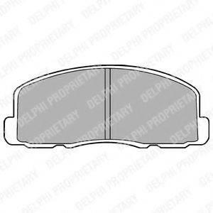 Комплект тормозных колодок, дисковый тормоз DELPHI LP458
