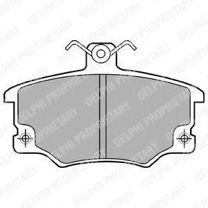Комплект тормозных колодок, дисковый тормоз DELPHI LP459