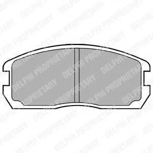 Комплект тормозных колодок, дисковый тормоз DELPHI LP467