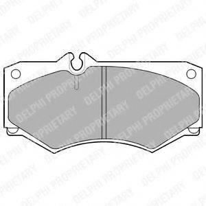 Комплект тормозных колодок, дисковый тормоз DELPHI LP468