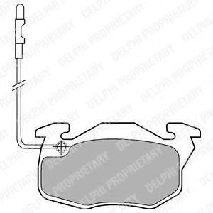 Комплект тормозных колодок, дисковый тормоз DELPHI LP490