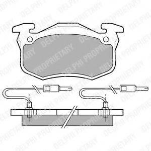 Комплект тормозных колодок, дисковый тормоз DELPHI LP491
