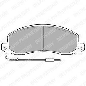 Комплект тормозных колодок, дисковый тормоз DELPHI LP504