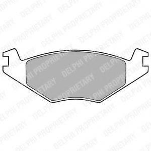 Комплект тормозных колодок, дисковый тормоз DELPHI LP505