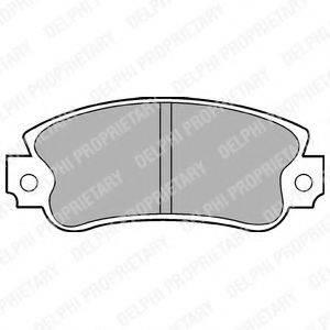 Комплект тормозных колодок, дисковый тормоз DELPHI LP509