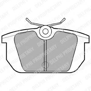 Комплект тормозных колодок, дисковый тормоз DELPHI LP522