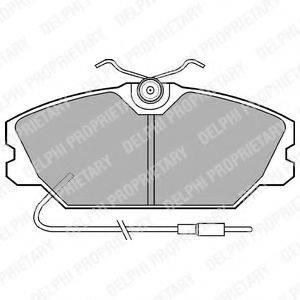 Комплект тормозных колодок, дисковый тормоз DELPHI LP542