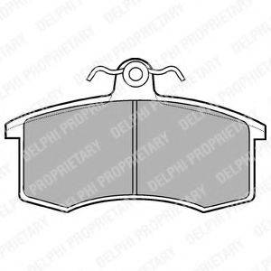 Комплект тормозных колодок, дисковый тормоз DELPHI LP551