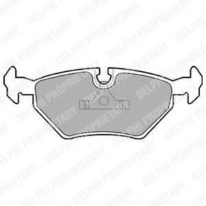 Комплект тормозных колодок, дисковый тормоз DELPHI LP555