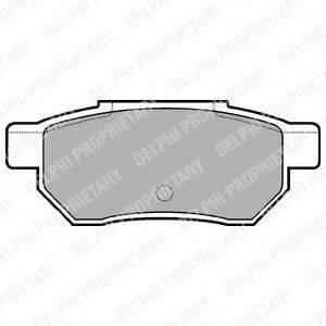 Комплект тормозных колодок, дисковый тормоз DELPHI LP562