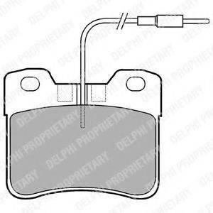 Комплект тормозных колодок, дисковый тормоз DELPHI LP563