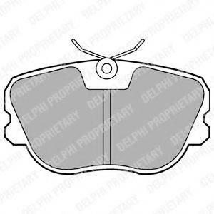 Комплект тормозных колодок, дисковый тормоз DELPHI LP575