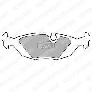Комплект тормозных колодок, дисковый тормоз DELPHI LP576
