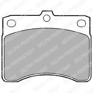 Комплект тормозных колодок, дисковый тормоз DELPHI LP578