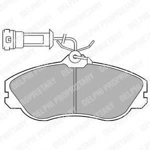 Комплект тормозных колодок, дисковый тормоз DELPHI LP579