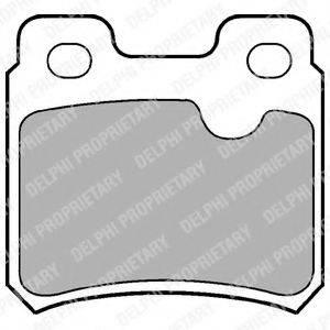 Комплект тормозных колодок, дисковый тормоз DELPHI LP586