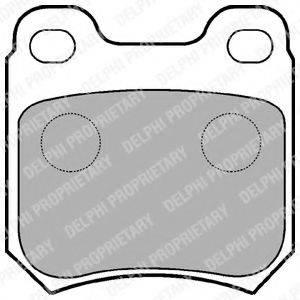 Комплект тормозных колодок, дисковый тормоз DELPHI LP590