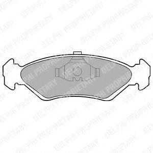 Комплект тормозных колодок, дисковый тормоз DELPHI LP591