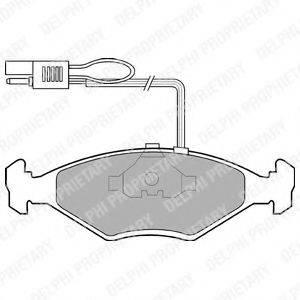 Комплект тормозных колодок, дисковый тормоз DELPHI LP604