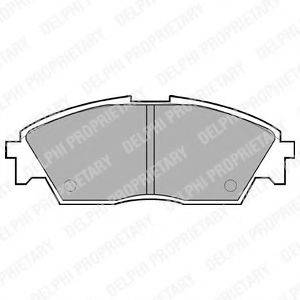 Комплект тормозных колодок, дисковый тормоз DELPHI LP605