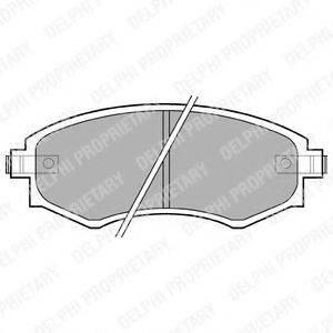 Комплект тормозных колодок, дисковый тормоз DELPHI LP606