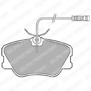 Комплект тормозных колодок, дисковый тормоз DELPHI LP608