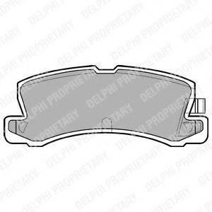 Комплект тормозных колодок, дисковый тормоз DELPHI LP611