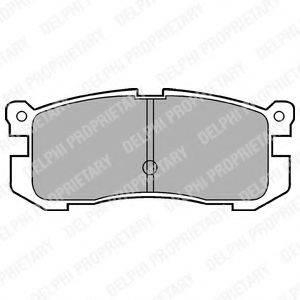 Комплект тормозных колодок, дисковый тормоз DELPHI LP624