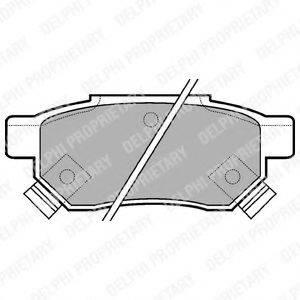 Комплект тормозных колодок, дисковый тормоз DELPHI LP625