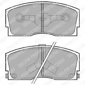 Комплект тормозных колодок, дисковый тормоз DELPHI LP626