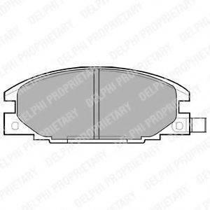 Комплект тормозных колодок, дисковый тормоз DELPHI LP629