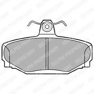 Комплект тормозных колодок, дисковый тормоз DELPHI LP637