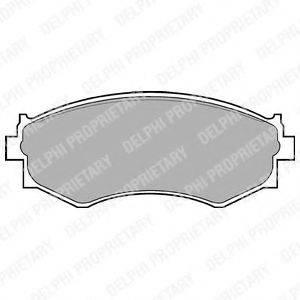 Комплект тормозных колодок, дисковый тормоз DELPHI LP645