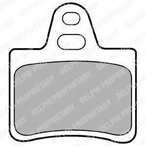 Комплект тормозных колодок, дисковый тормоз DELPHI LP655