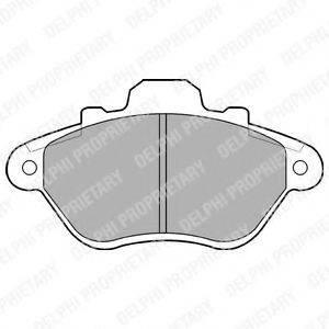 Комплект тормозных колодок, дисковый тормоз DELPHI LP666