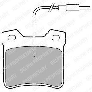 Комплект тормозных колодок, дисковый тормоз DELPHI LP667