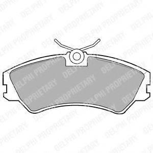 Комплект тормозных колодок, дисковый тормоз DELPHI LP668