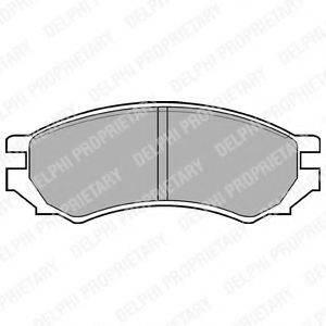 Комплект тормозных колодок, дисковый тормоз DELPHI LP670