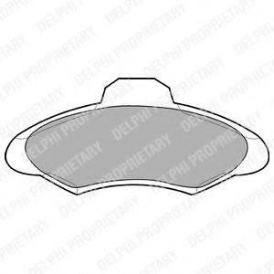 Комплект тормозных колодок, дисковый тормоз DELPHI LP673