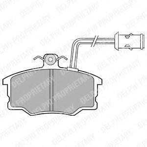 Комплект тормозных колодок, дисковый тормоз DELPHI LP674