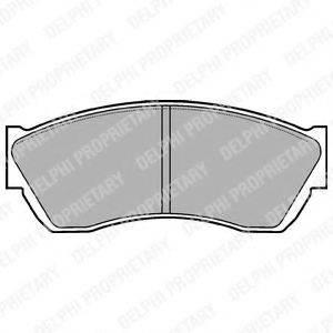 Комплект тормозных колодок, дисковый тормоз DELPHI LP676