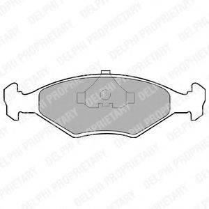 Комплект тормозных колодок, дисковый тормоз DELPHI LP677