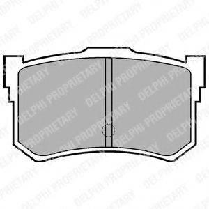 Комплект тормозных колодок, дисковый тормоз DELPHI LP678