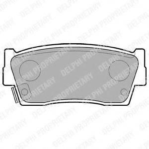 Комплект тормозных колодок, дисковый тормоз DELPHI LP684