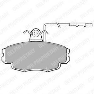 Комплект тормозных колодок, дисковый тормоз DELPHI LP695