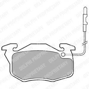 Комплект тормозных колодок, дисковый тормоз DELPHI LP696